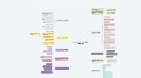 Mind Map: MODELOS DE ATENÇÃO EM SAÚDE
