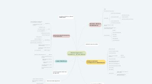 Mind Map: Modelos hegemónico, subalterno y    de auto atención