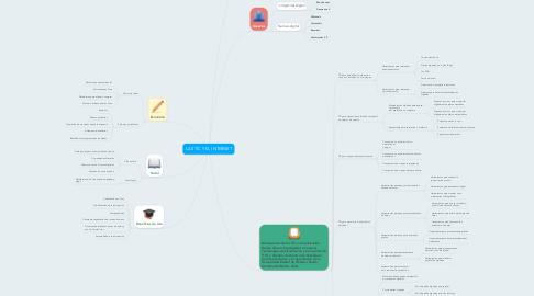 Mind Map: LAS TIC Y EL INTERNET
