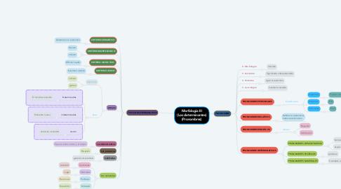 Mind Map: Morfologia III (Los determinantes) (Pronombres)