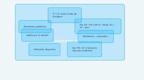 Mind Map: PARTICIPANTES