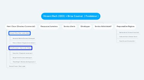 Mind Map: Vincent Rech (CEO) + Brice Cournut  ( Fondateur )