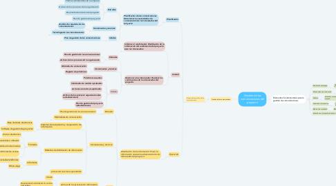 Mind Map: Gestión de las comunicaciones del proyecto