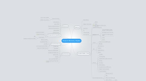 Mind Map: Proyecto Nacional y Popular