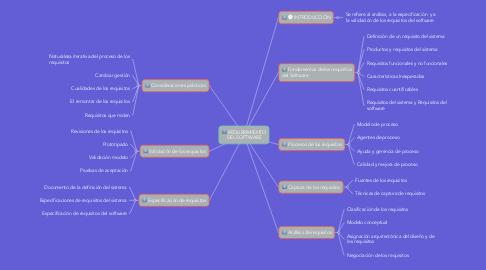 Mind Map: REQUERIMIENTO DEL SOFTWARE