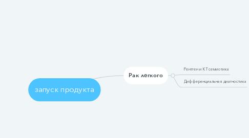 Mind Map: запуск продукта