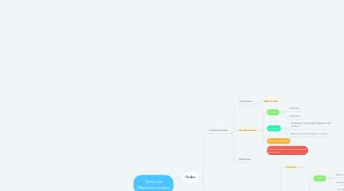 Mind Map: Toma de Mediacamentos