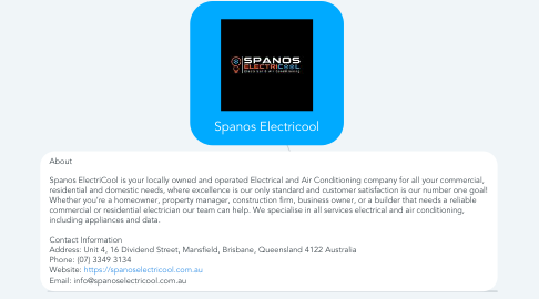 Mind Map: Spanos Electricool