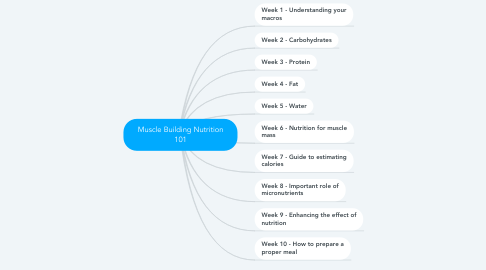 Mind Map: Muscle Building Nutrition 101