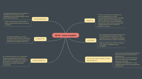 Mind Map: NIC:38 - Activos Intangibles