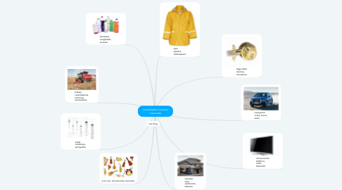 Mind Map: necesidades humanas materiales