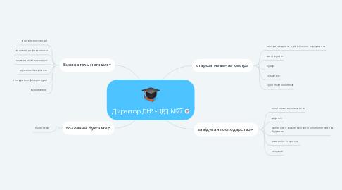 Mind Map: Директор ДНЗ-ЦРД №27
