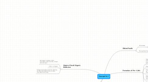 Mind Map: Concept 16.1