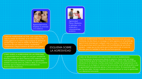 Mind Map: ESQUEMA SOBRE LA AGRESIVIDAD