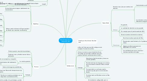 Mind Map: Herramientas para el desarrollo web