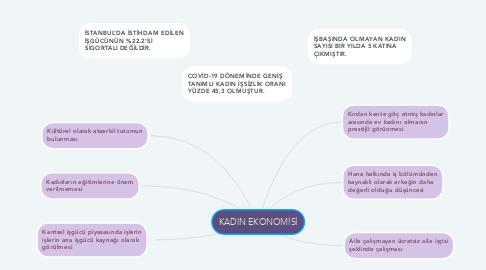 Mind Map: KADIN EKONOMİSİ
