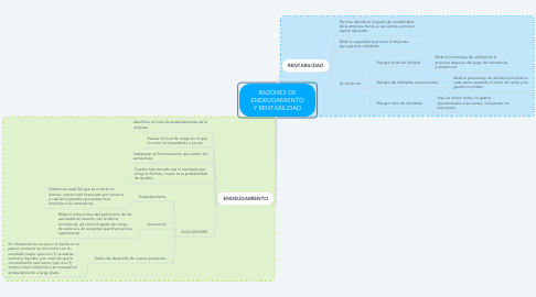 Mind Map: RAZONES DE ENDEUDAMIENTO Y RENTABILIDAD