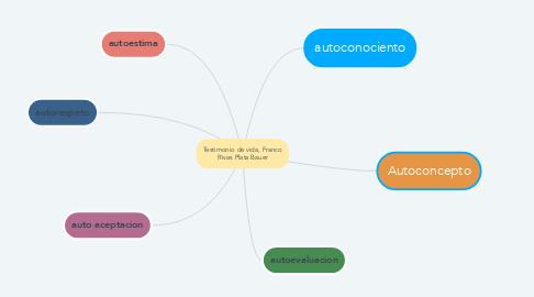 Mind Map: Testimonio de vida, Franco Rivas Plata Bauer