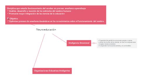 Mind Map: Neuroeducación
