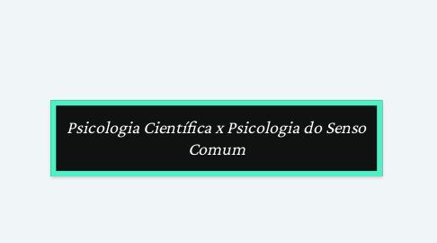Mind Map: Psicologia Científica x Psicologia do Senso Comum
