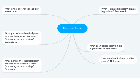Mind Map: Types of Perms