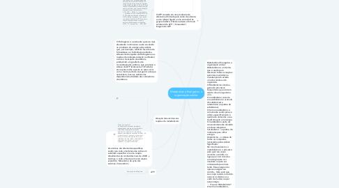 Mind Map: Metabolismo Energetico e organização celular