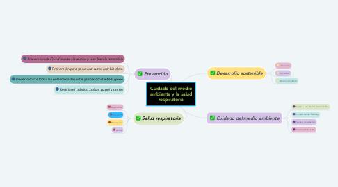 Mind Map: Cuidado del medio ambiente y la salud respiratoria