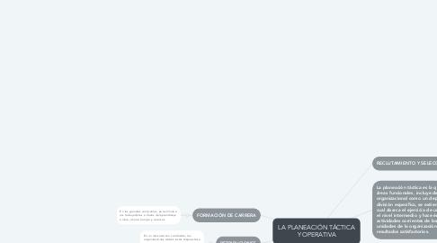Mind Map: LA PLANEACIÓN TÁCTICA Y OPERATIVA