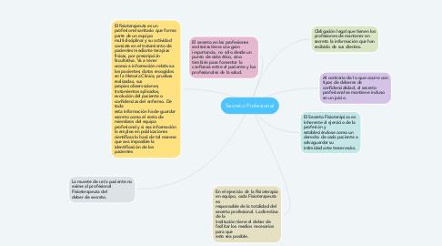 Mind Map: Secreto Profesional