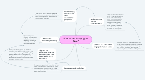 Mind Map: What is the Pedagogy of Care?
