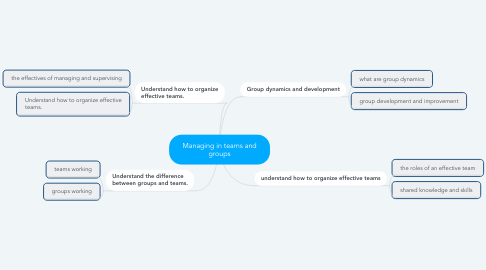 Mind Map: Managing in teams and groups