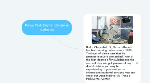 Mind Map: Kings Park Dental Center in Burke VA