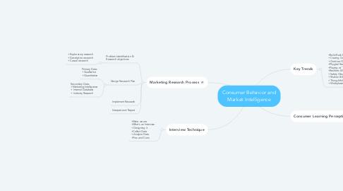 Mind Map: Consumer Behavior and Market Intelligence