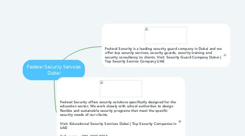 Mind Map: Federal Security Services Dubai