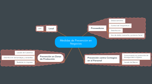 Mind Map: Medidas de Prevención en Negocios
