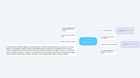 Mind Map: CASO DE UNA RECLAMACION DE UN CLIENTE ENFADADO
