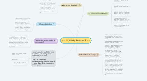 Mind Map: ~•° 🌞[ El sol y los incas]🌻°•~