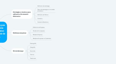 Mind Map: Estrategias y técnicas para aplicación de comercio electrónico en medianas empresas del municipio de Momostenango, Totonicapán.