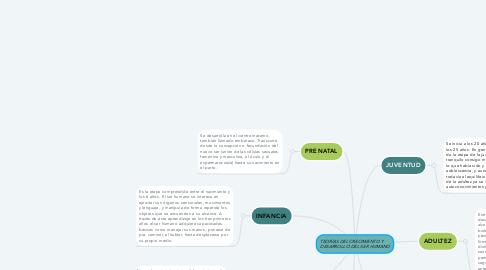 Mind Map: TEORÍAS DEL CRECIMIENTO Y      DESARROLLO DEL SER HUMANO