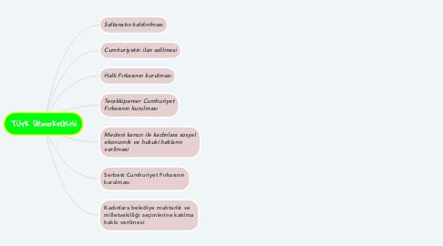 Mind Map: Türk Demokrasisi