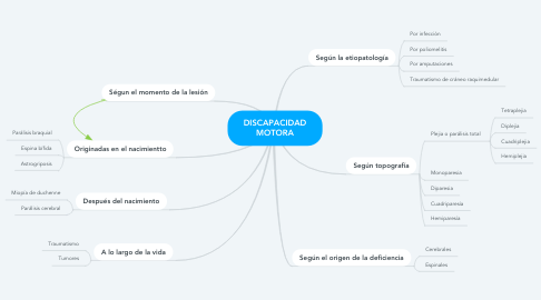 Mind Map: DISCAPACIDAD MOTORA