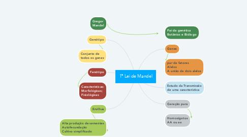 Mind Map: 1ª Lei de Mandel