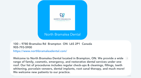 Mind Map: North Bramalea Dental