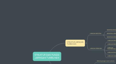 Mind Map: STRUKTUR DAN FUNGSI JARINGAN TUMBUHAN