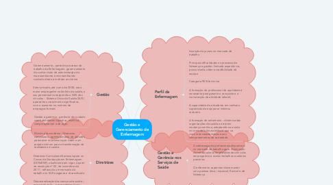 Mind Map: Gestão e Gerenciamento de Enfermagem