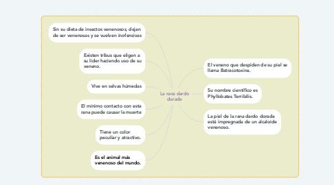 Mind Map: La rana dardo dorada