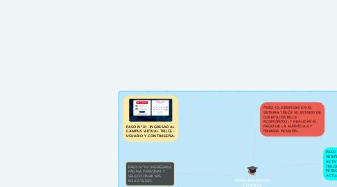 Mind Map: REANUDACION DE ESTUDIOS