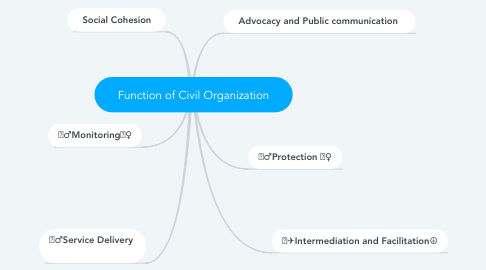 Mind Map: Function of Civil Organization