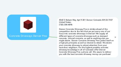 Mind Map: Concrete Driveways Denver Pros