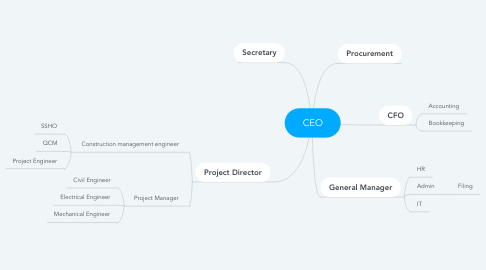 Mind Map: CEO